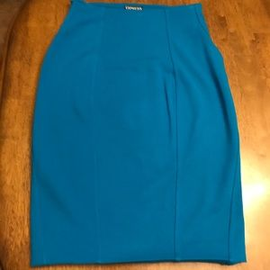 Bright bluish pencil shirt from Express in size 8.